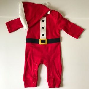 Other - 2PC. Santa NB Pajama with Hat NEW